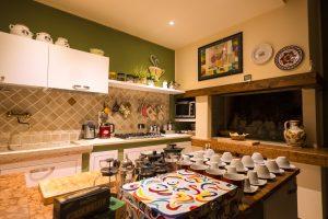 Sala colazioni alloggio santalucia
